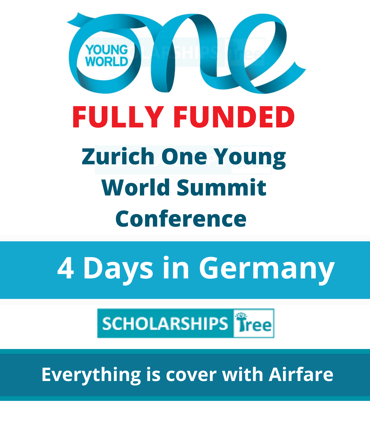 Zurich One young World Summit Scholarship 2021 - Fully Funded