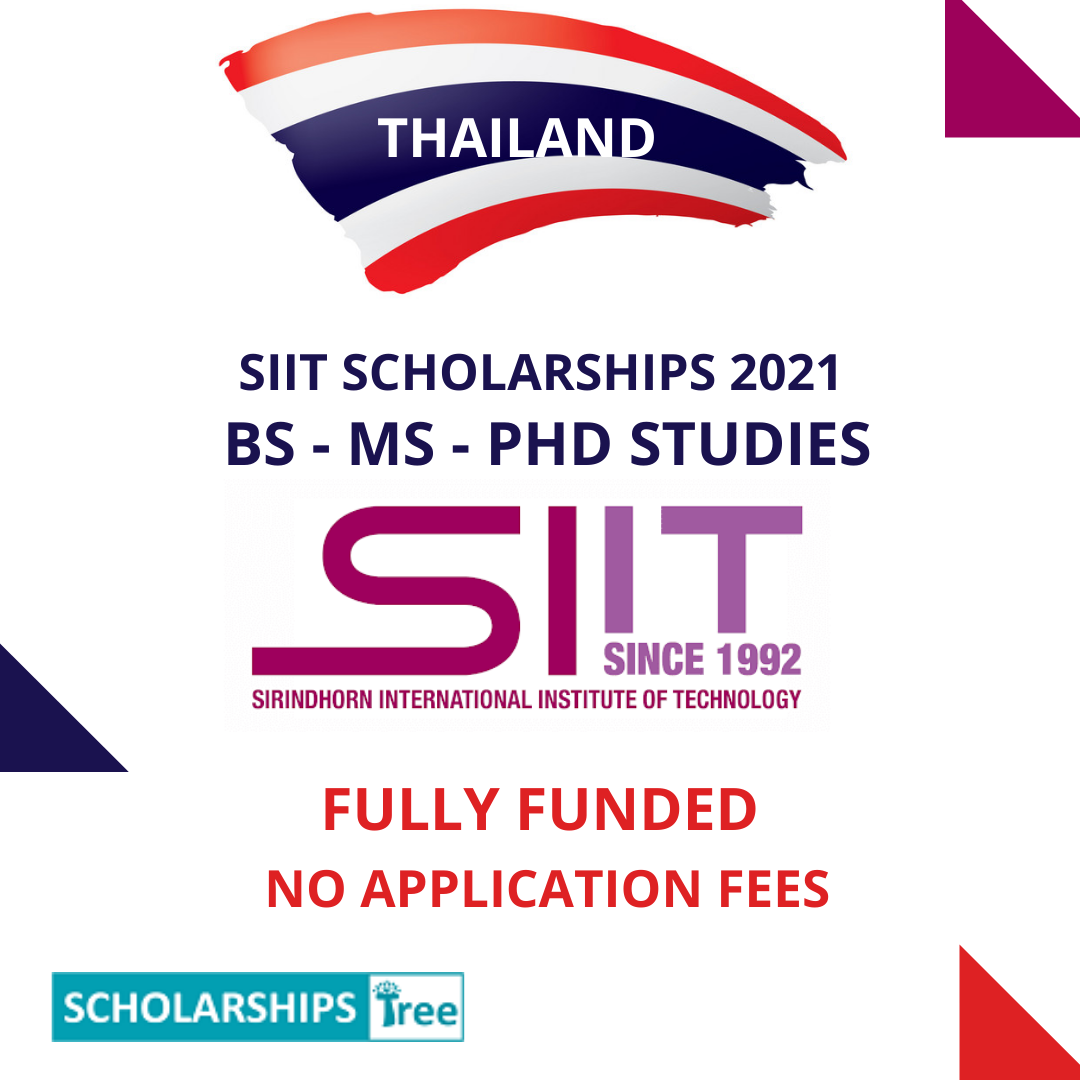SIIT Scholarships 2021 (EFS) in Thailand - FULLY FUNDED